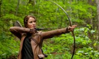 Katniss in Hunger Games Arena