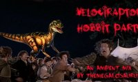 A hobbit party, with occasional velociraptors